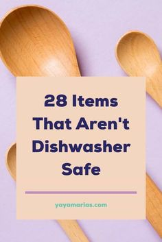 Tired of playing a guessing game of what's dishwasher safe and what's not? Today you're going to learn which items should never go in the dishwasher. Here's a list of 28 utensils you should never wash in a dishwasher to avoid breaking them. Read our tips and hacks in the post. #dishwasher #dishwashersafe #cleaningtips #cleaninghacks #cleankitchen #cleaningchecklist #cleaningtricks #cleaninghacks #cleaningtips #cleandishes #dishsoap #hacks #tipsandtricks #tips #howto #housewifehowtos #diy Household Cleaning Tips, Cleaning Recipes, House Cleaning Tips, Cleaning Hacks, Kitchen Cleaning, Eco Friendly Cleaning Products, Diy Cleaning Products, Green Living Tips, Eco Friendly House