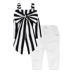 Children's Fashion Clothing for Girls Black Blouse Top and A Casual Jeans and Clothes Collar Group Suit Toddler Girl Outfits, Kids Outfits, Toddler Girls, Baby Girls, Kids Girls, Baby Girl Fashion, Kids Fashion, Cheap Girls Clothes, Style Floral