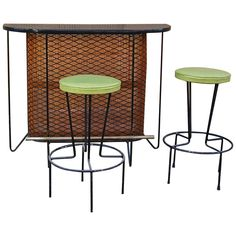 Frederick Weinberg Bar Set | From a unique collection of antique and modern dry bars at https://www.1stdibs.com/furniture/storage-case-pieces/dry-bars/
