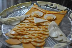 Perfect for Amelia's Woodland animal party...maybe someother time? Owl made from cheese slices, so cute!