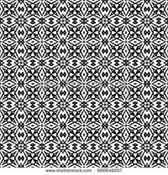 Endless black and white engraving pattern. Texture for certificate or diploma, currency and money design. Single-leaf woodcut, xylography, printmaking. Vector Illustration