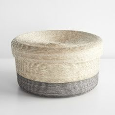 Gray Band Round Nido Basket | Unison