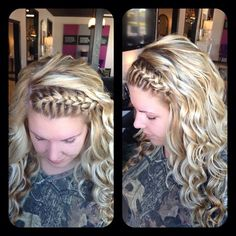 beautiful braid with curls
