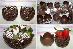 How to make chocolate bowls howtocookthat best birthday cakes desserts parties gingerbread houses cake pops no bake key lime pies an easy no bake dessert for summer! Dessert Party, Party Desserts, Mini Desserts, Christmas Desserts, Delicious Desserts, Dessert Recipes, Birthday Desserts, Oreo Desserts, Dessert Cups