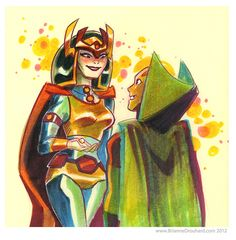 elrincondekaisermilan:  Big Barda and Mister Miracle by Brianne Drouhard(via Best Art Ever (This Week) - 08.08.14)