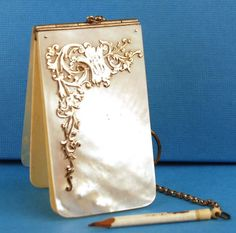 Antique Nineteenth Century French Mother of Pearl Carnet de Bal from parischateau on Ruby Lane