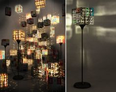 diy : lamp from old cassettes