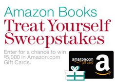 Amazon Books Treat Yourself Sweepstakes: Enter To Win A $5,000 Amazon Gift Card