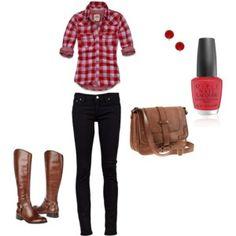 Camping outfit! -the nail polish