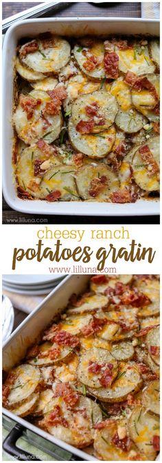 Cheesy Ranch Potatoes Gratin