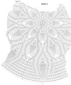 Crochet Circular vest free pattern