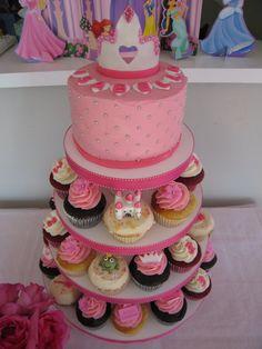 Disney princess party birthday cake