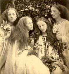 The Rosebud Garden of Girls-June 1868.jpg - The art of tableaux was a popular genre in late Victorian times.  Julia Cameron took this form to its artistic apogee, as in the image of the Garden of Beautiful Maidens.