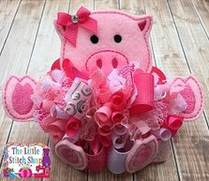 Pig 2 Oversized Feltie Set | Featured Products | Machine Embroidery Designs | SWAKembroidery.com