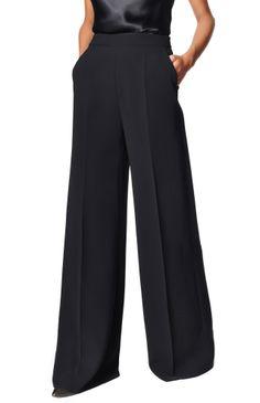 Pantalón pata de elefante - pantalones | Adolfo Dominguez shop online