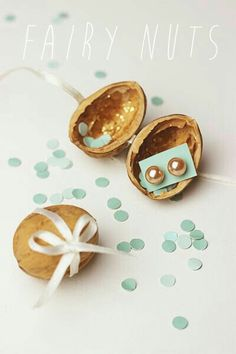 "Walnut Shells make the perfect gift ""box"". I have been doing this since I was a 'tween. ~ dwb"