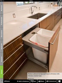 In the island- Mid Century Modern Kitchen Remodel - modern - kitchen - seattle - BUILD LLC Kitchen Sink Design, Modern Kitchen Design, Home Decor Kitchen, Interior Design Kitchen, Kitchen Furniture, Kitchen Ideas, Kitchen Time, Kitchen Photos, Furniture Design