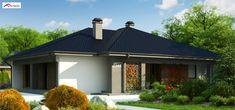 Z344 to wyjątkowy dom z kategorii projekty domów jednorodzinnych New House Plans, Design Case, Gazebo, Garage Doors, New Homes, Outdoor Structures, How To Plan, Mansions, House Styles