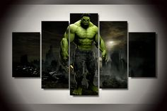Style Your Home Today With This Amazing 5 Piece Multi Panel Modern Home Decor Framed Hulk Marvel Comics Wall Canvas Art For $99.98  Discover more canvas selection here http://www.octotreasures.com  If you want to create a customized canvas by printing your own pictures or photos, please contact us.