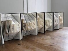 Beautiful Sculptures on Folded Book Art - Pelfind