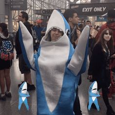 cosplay nycc new york comic con left shark nycc 2016 #humor #hilarious #funny #lol #rofl #lmao #memes #cute