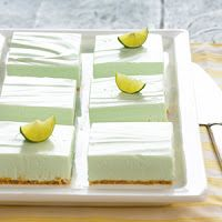 Tea at Prim Rose Hill: Light Key Lime Cheesecake Bars