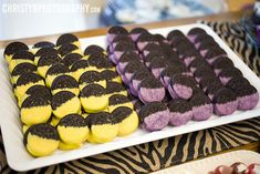 Party: chocolate dipped Oreos--could this be turned into yellow & purple Minions from Despicable Me 2? Lol!