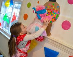 Here's a fun DIY party game: Pin a gumball on the gumball machine / @Valerie of Inner Child Fun