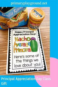 Need an easy gift idea for principal appreciation day? Come check out our gift from the class.