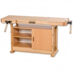 This package comprises the Axminster 1700 Workbench and the Axminster Storage Cupboard For 1700, D1 & D2 Benches. Axminster 1700 Workbench Lacquered on both top and underside for maximum protection, the bench top is laminated, kiln-dried beech. Beech is a