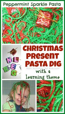 Christmas Present Pasta Dig - pinned by @PediaStaff – Please Visit ht.ly/63sNtfor all our pediatric therapy pins