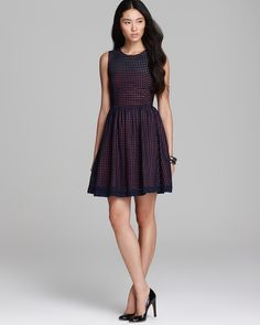 Bloomingdales...FRENCH CONNECTION Dress...Eyelets Embroidery