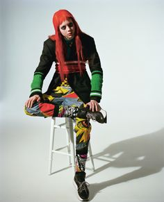 Scarlet starlet Natalie Westling takes to the streets of London | i-D Magazine