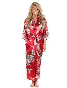 Brand New Black Women Silk Kimono Robes Long Sexy Nightgown Vintage Printed Night Gown Flower Plus Size S M L XL XXL XXXL A-045
