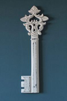 Large Iron Decorative Skeleton Key Victorian Wall Decor Ornate ...