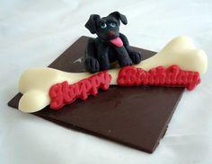 Doggie with giant chew bone