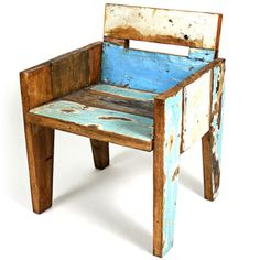@Overstock - Wherever this chair goes, it is guaranteed to add character and a rustic charm to any room. Made from tropical and reclaimed wood, this handmade chair is eco-friendly and will easily fit in with any decor. Each chair is hand-painted in multiple colors.http://www.overstock.com/Main-Street-Revolution/Ecologica-Furniture-Rio-Chair/6825522/product.html?CID=214117 $419.99