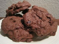 Chocolate Comfort Cookies -- three different kinds of chocolate combined with cranberries and marshmallow.  So good!