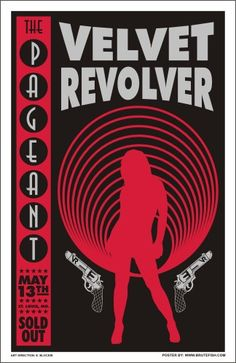 One sexy silhoute for Velvet Revolver. Tour Posters, Band Posters, Music Posters, Rock And Roll Bands, Rock N Roll, Concert Posters, Festival Posters, The Queen Is Dead, Velvet Revolver