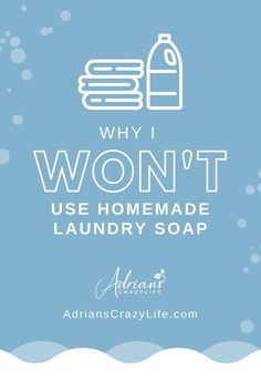 I see lots of posts about homemade laundry soap, but I'm not going to try it and here's why. #laundry #homemadesoap #diyideas #homemade #frugal #badidea #lifehacks #betterwaystosavemoney #adrianscrazylife Best Money Saving Tips, Saving Money, Parenting Teens, Parenting Hacks, Show Me The Money, Organized Mom, Money Savers, Crazy Life, Organize Your Life