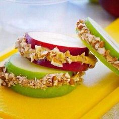 #Manzana con #muesli para #merendar otra manera de #comer #fruta @entulínea #adelgazar con #salud #feliz