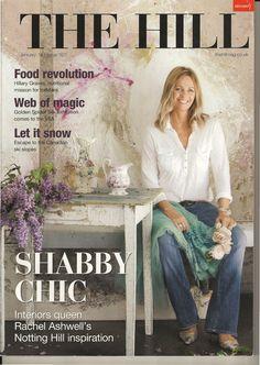 Rachel Ashwell  designer who founded Shabby Chic decor.