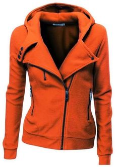 Comfy Long Sleeves Zip up Jacket Hoodie