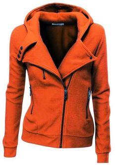 Comfy Long Sleeves Zip up Jacket Hoodie