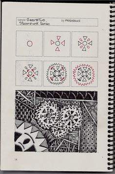 Geer #2-Tangle Patterns by molossus, who says Life Imitates Doodles, via Flickr