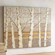 Metallic Birch Trees Wall Art