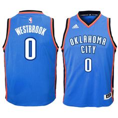 Russell Westbrook Oklahoma City Thunder Youth Swingman Basketball Jersey - Blue - $59.99