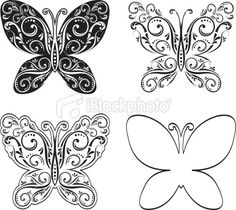 Black and White Butterfly Art