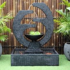 New Eclipse Concrete Modern Water Feature - Medium Indoor Water Features, Water Features In The Garden, Modern Water Feature, Garden Fountains, Water Fountains, Modern Fountain, Waterfall Fountain, Fish Ponds, Concrete