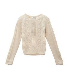 Cream (Cream) Teens Cream Cable Knit Jumper || New Look  14,99€